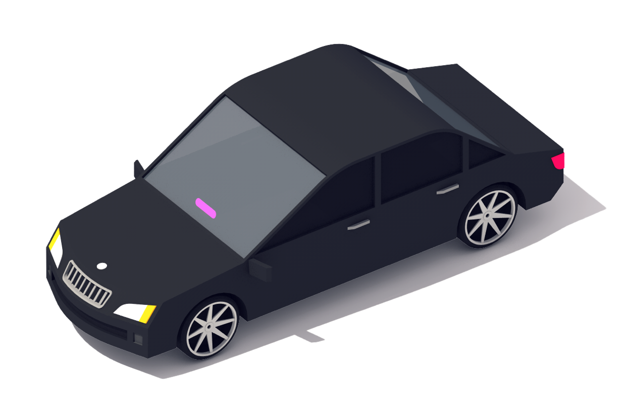 Background image. Car with lyft imagery.